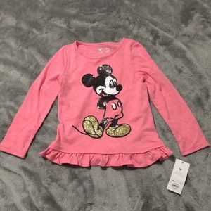 Jumping beans Mickey Mouse top little girls 5